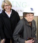 Martha Stewart and her mom at the Martha Stewart Center for Living Grand Opening.